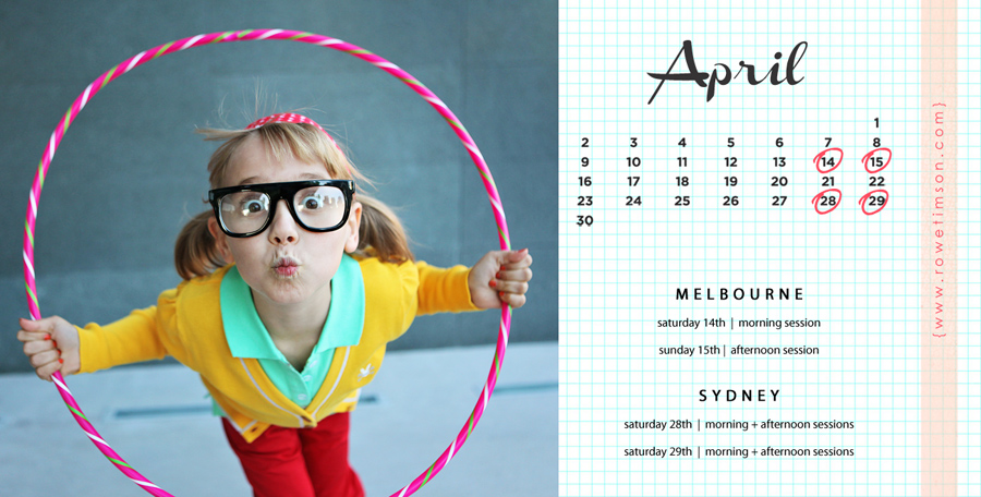 melbourne sydney family photography session dates